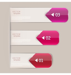 Set of bookmarks stickers labels tags template for vector