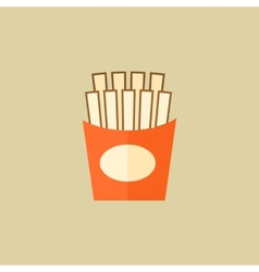 French fries food flat icon vector