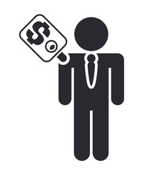 Man sold icon vector