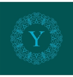 Simple monogram y design vector