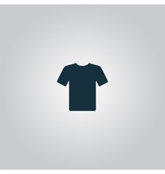Tshirt icon  flat design vector