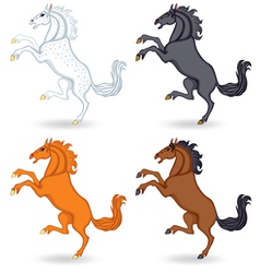 Horse set vector