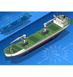 Isometric cargo ship vector