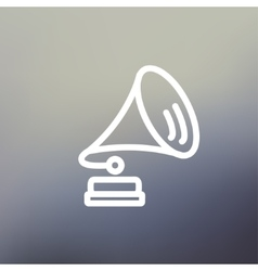 Gramophone thin line icon vector