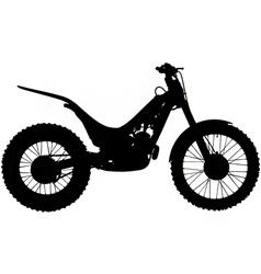 Trials motorbike silhouette vector