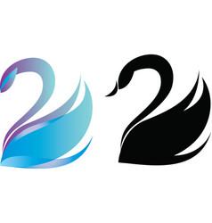 Swan logo vector