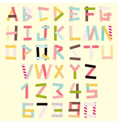 Masking tape alphabet vector