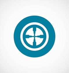 Optical sight icon bold blue circle border vector
