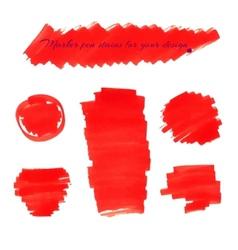 Marker pen spots vector