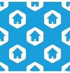 House hexagon pattern vector
