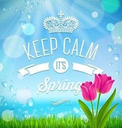Keep calm its spring vector