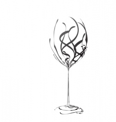 Stylized wineglass vector