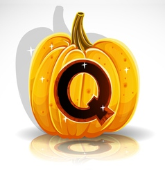 Halloween pumpkin q vector