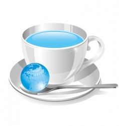 White cup of water vector
