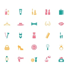 Collection of fashion and shopping icons vector