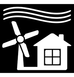 Windmill power icon vector