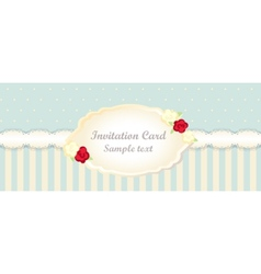 Classic romantic invitation design vector