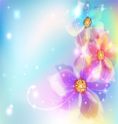 Beautiful abstract background with flowers vector