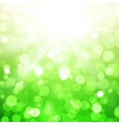 Blurred summer background with sun vector