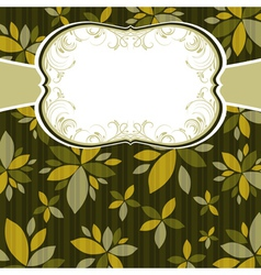 Brown background with decorative flowers vector