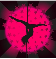 Sexy pole dancer - vector