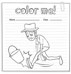A scrapbook with a man hitting the bucket vector