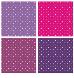 Violet blue and pink polka dots background set vector