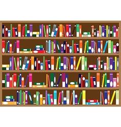 Books on the shelves vector