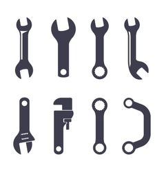 Set icons of spanners vector