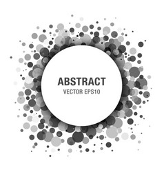 Gray abstract circle frame design element vector