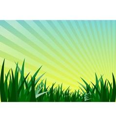 Green grass and mountain vector