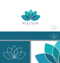 Lotus flower yoga wellness concept design element vector