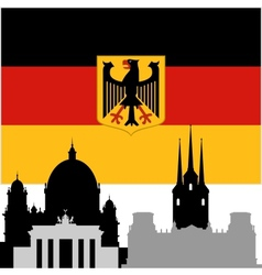 German architecture vector