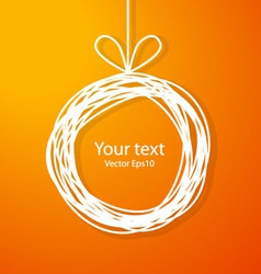 Christmas sketch frame on orange background vector