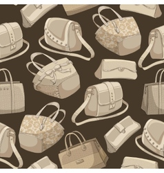Seamless womans stylish bags retro pattern vector