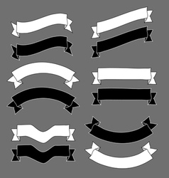 Vintage ribbons and banners design sketch vector