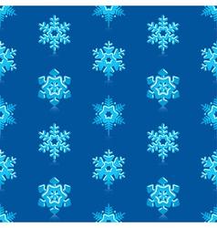 Deep blue snowflakes pattern vector