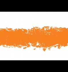 Grunge strip background orange vector