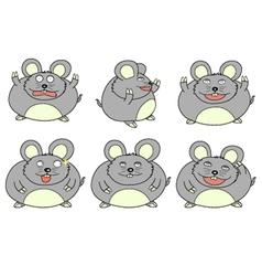 Fat mouse cartoon vector