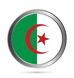 Algeria flag button vector