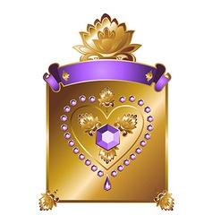 Golden valentine background vector