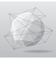 White globe geometrical background vector
