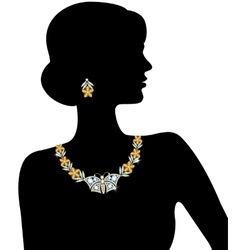 Silhouette of the woman vector
