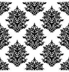 Ornate seamless pattern with foliate arabesque vector