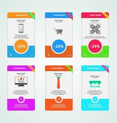 Colored banners for e-marketing vector