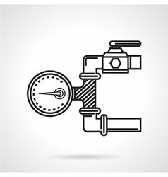 Black line icon for manometer vector