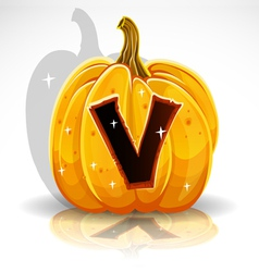 Halloween pumpkin v vector