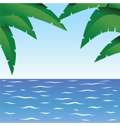 Palm and ocean vector