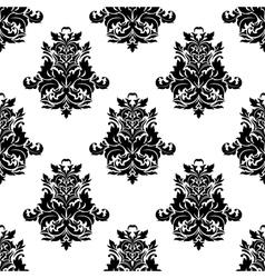 Foliate arabesque motif seamless pattern vector