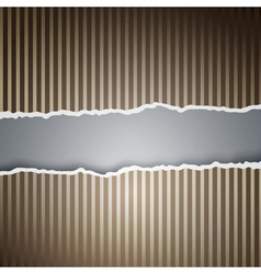 Ragged paper with a pattern of lines vector